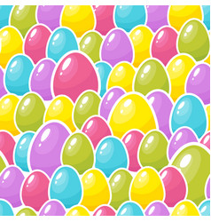 Easter colorful eggs background seamless pattern vector