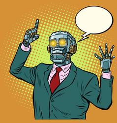 emotional speaker robot dictatorship of gadgets vector image