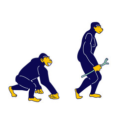 Evolution human development process concept vector