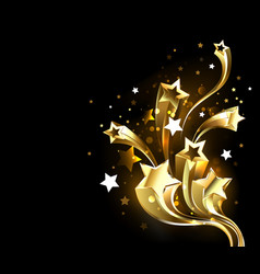 fast gold comets vector image