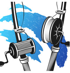 fishing rods for fishing vector image