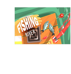 Fishing with only hands visible vector