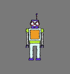 Flat shading style icon childrens toy robot vector