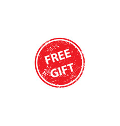 free gift stamp texture rubber cliche imprint web vector image