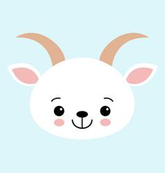 Goat cute in childish flat design vector