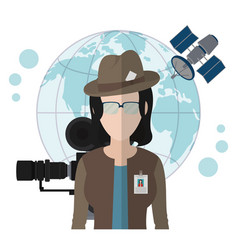 Journalism and journalist vector