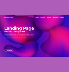 landing page template abstract background with vector image