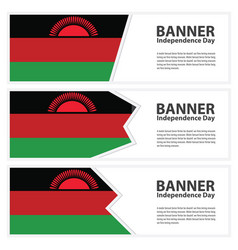 Malawi flag banners collection independence day vector