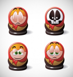 Matryoshka icons vector image
