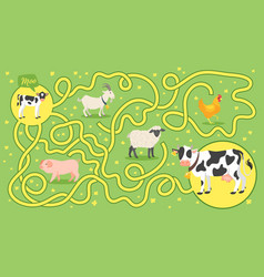 Maze or labyrinth for children vector