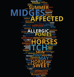 Midge bite misery text background word cloud vector
