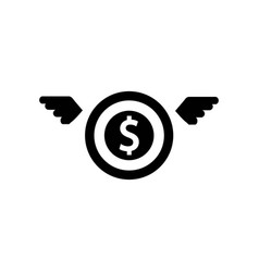 money sack with wings icon icon simple element vector image