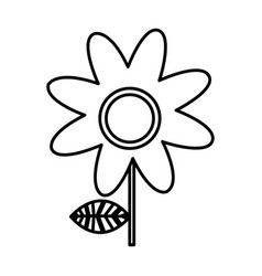 Monochrome silhouette of daisy flower vector