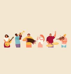 Musicians people group vector