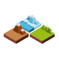 Nature in pixels design vector