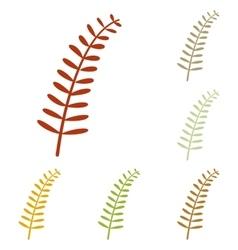 Olive twig sign vector image