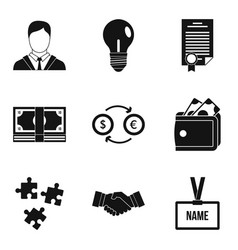 operating icons set simple style vector image
