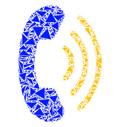 Phone ring collage of triangles vector