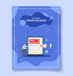press release concept for template banners vector image