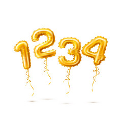 Realistic 1 2 3 balloon number for a party vector