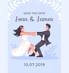 romantic young couple holing hands and spinning vector image