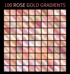 rose gold gradients collection for design vector image