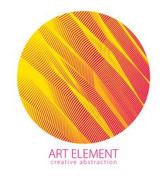 round shape art and design element of beautiful vector image