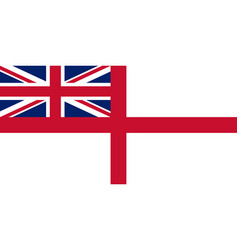 Royal navy white ensign vector