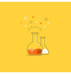 Science class laboratory fun experiment icon and vector