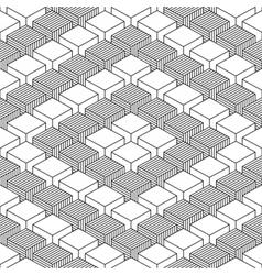 Seamless geometrical pattern vintage background vector