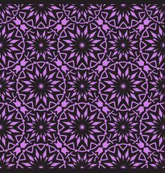 Seamless purple floral mandala pattern vector