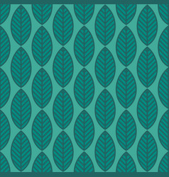 seamless stylized leaf pattern vector image
