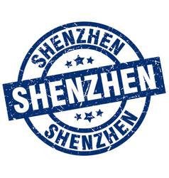 Shenzhen blue round grunge stamp vector