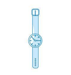 Silhouette nice watch to know the time of day vector