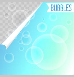 Soap bubbles white shampoo clipart on transparent vector