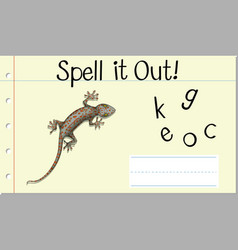 Spell english word gecko vector