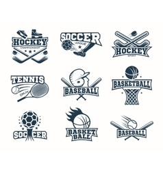 Sports Monochrome Logos vector