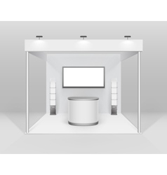 Stand and Counter Spotlight Screen Brochure Holder vector