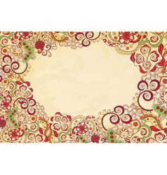 Stylised floral ornament invitation background vector