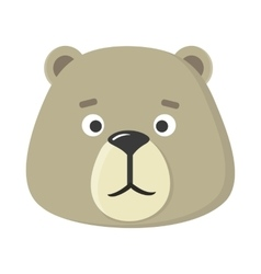 Teddy Bear Mask Isolated Sticker for Toddler vector