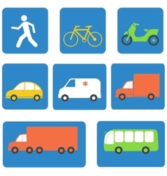 Transportation icons design elements vector