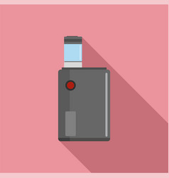 Vaping box icon flat style vector