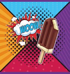 Woow pop art vector