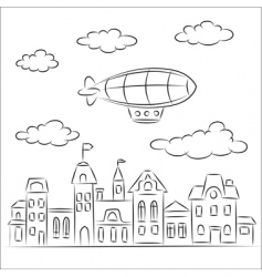 zeppelin vector image vector image