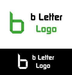 B letter logo vector image vector image
