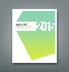 Cover Report number 2015 and eco green background vector image
