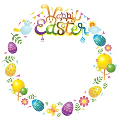 Easter Icons Wreath vector image vector image