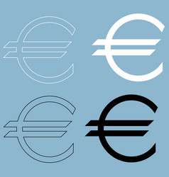 euro symbol the black and white color icon vector image vector image