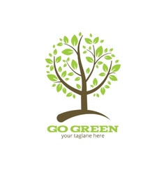 Go green tree logo vector image