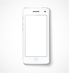 Mobile phone with white screen vector image vector image